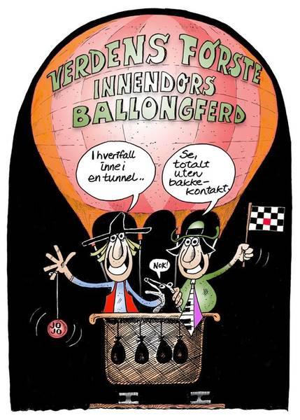 Bilde av Øystein Dolmen - Ballongferd II inkl. ramme
