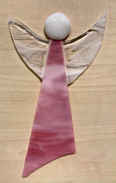 Bilde av Hengende engel - Rosa 20 cm